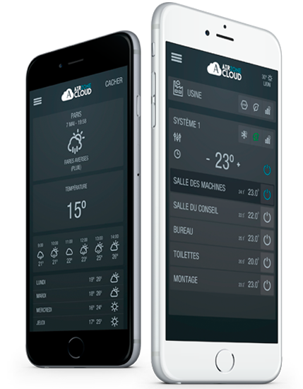 Airzone Cloud thermostat à portée de main