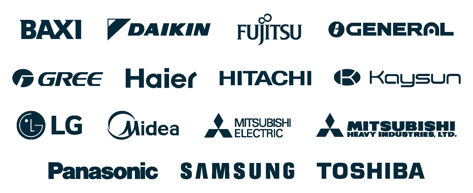 Fabricants compatibles avec les systèmes Airzone