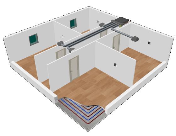 Système de régulation intelligent de chauffage et refroidissement