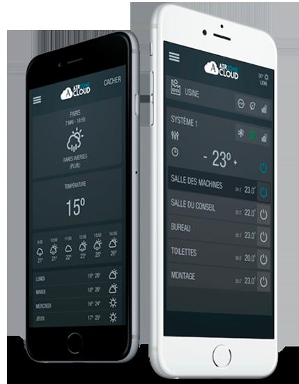 Airzone Cloud thermostat à portée de main